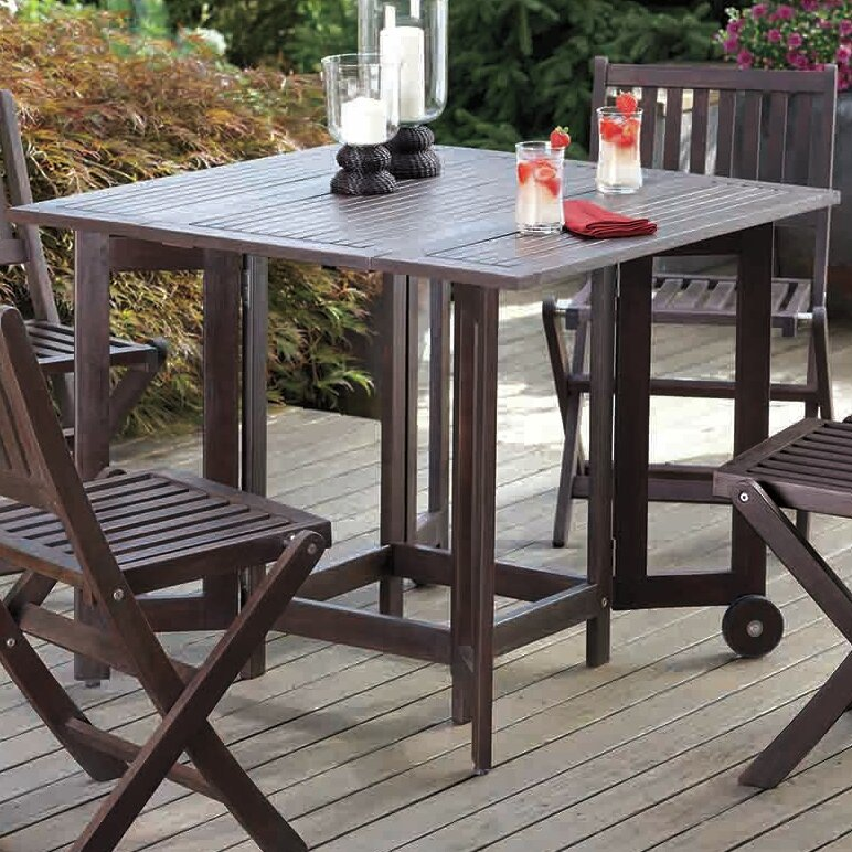 Merry Products Eucalyptus Folding Table U0026 Reviews | Wayfair