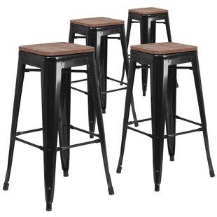 Geraldine 30 Bar stool (Set of 4) Williston Forge