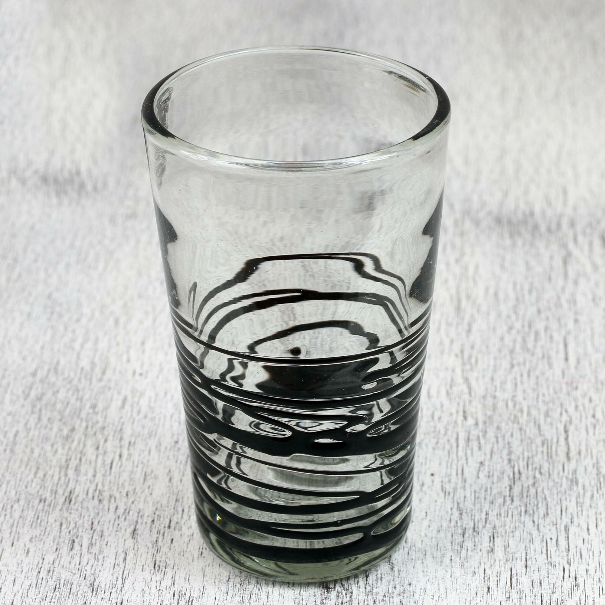 Latitude Run Chalsbury Ebony Spin 16 Oz Drinking Glass Reviews Wayfair