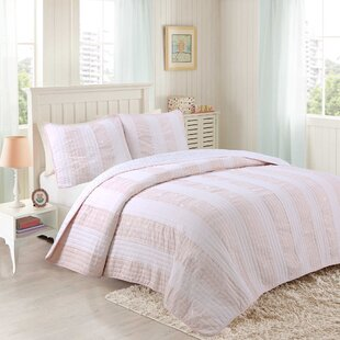 Petit Striped Cotton Reversible Quilt Set