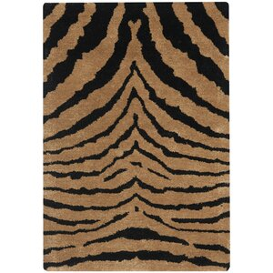 Dorthy Black/Brown Area Rug