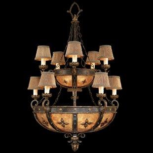 Fine Art Lamps Castile 10-Light Shaded Chandelier