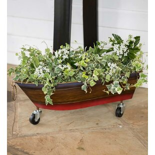 Metal Boat Drink Holder/Planter Bar Cart by Plow & Hearth