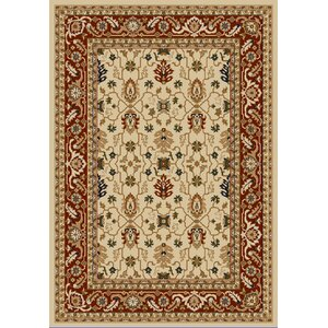 Whickam Cream/Red Area Rug