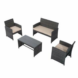 4 Piece Sofa Seating Group With Cushions