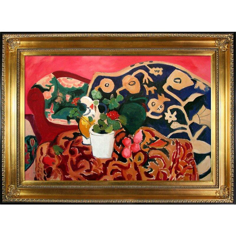 Spanish Still Life by Henri Matisse Framed Painting #Matisseprint #stilllife