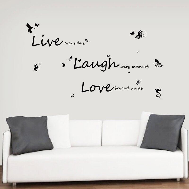 Lovely Vivid Live Laugh Love Wall Decal