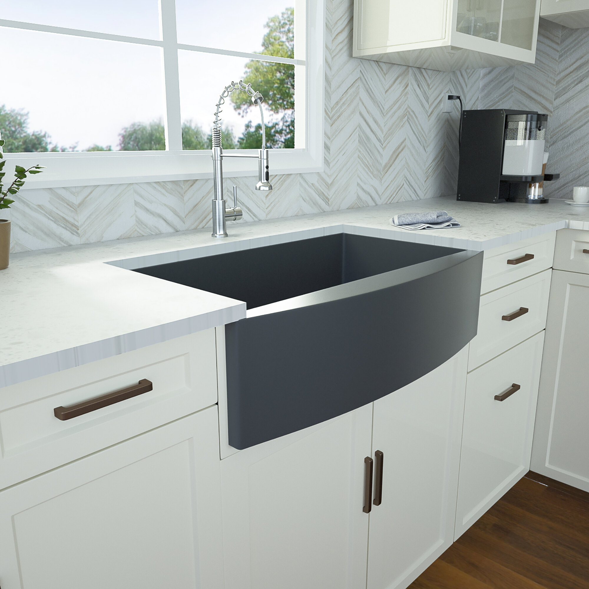 Black Farmhouse Apron Kitchen Sinks Wayfair