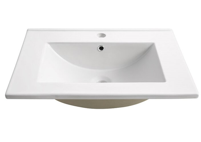 Fresca Torino Ceramic Rectangular Drop In Bathroom Sink With Overflow Reviews Wayfair Ca