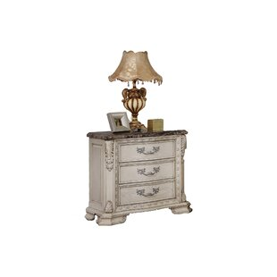 Castiel 3 Drawer Bachelor's Nightstand