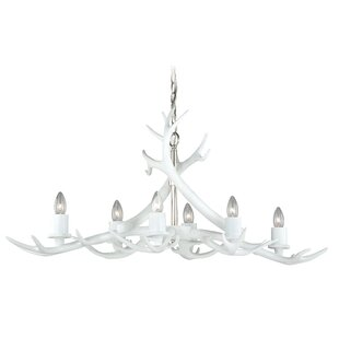 Foundry Select Aalin Antler 6-Light Chand..