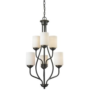 Weatherly 6-Light Shaded Chandelier by Charlton Home