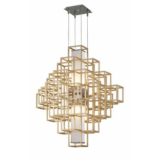 Metropolis 2-Light LED Chandelier by Corbett Lighting