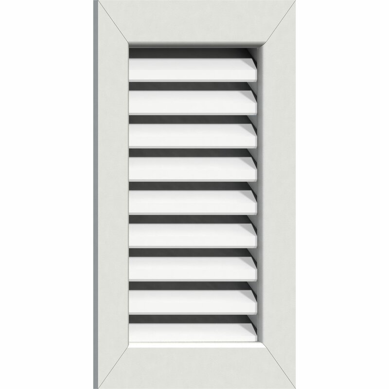 Ekena Millwork Pvc Vertical Peaked Gable Vent With Flat Trim Frame In White Wayfair