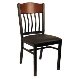 H&D Restaurant Supply, Inc. Slat Back Upholstered Dining Chair (Set of 2)