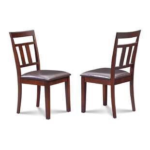 Dahle Faux Leather Seat Dining Side Chair (Set of 2)
