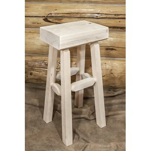 Abella 30 Pine Wood Bar Stool Loon Peak