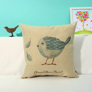 Ambler Birds and Stone Print Square Throw Pillow