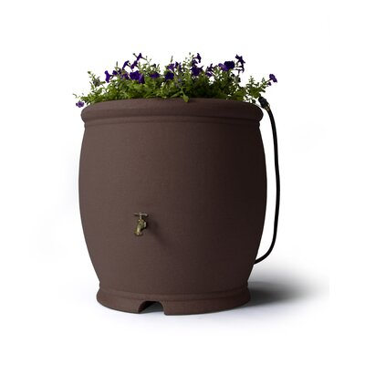 100 Gallon Rain Barrel Algreen Color Brownstone