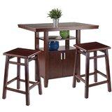 Yuriko 3 Piece Pub Table Set by Red Barrel Studio®