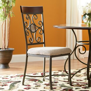 Stefanie Metal Dining Chair (Set of 2) Fleur De Lis Living