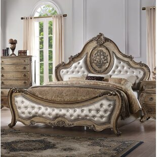 Okeefe Arched Queen Upholstered Standard Bed by Astoria Grand