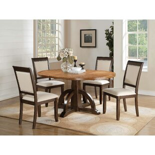 Clarkdale 5 Piece Extendable Solid Wood Dining Set Loon Peak