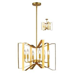 Z-Lite Fawcett 6-Light Geometric Chandelier