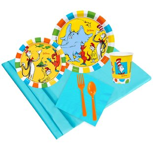 37 Piece Dr. Seuss Guest Party Paper and Plastic Snack Pack Set