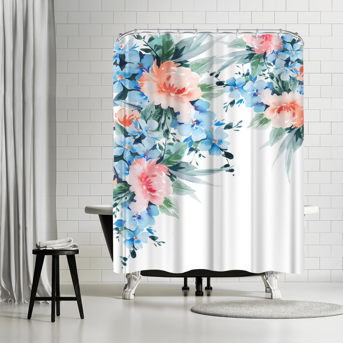 East Urban Home Victoria Nelson Blossom Bouquet Single Shower Curtain Wayfair