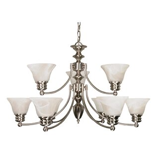 Poneto 9-Light Shaded Chandelier by Charlton Home