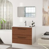 Akadia Modern 32 Wall-Mounted Single Bathroom Vanity Set with Mirror by Ebern Designs