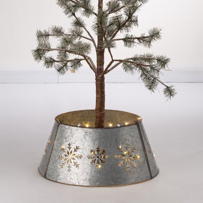 Galvanized Snowflake Tree Collar