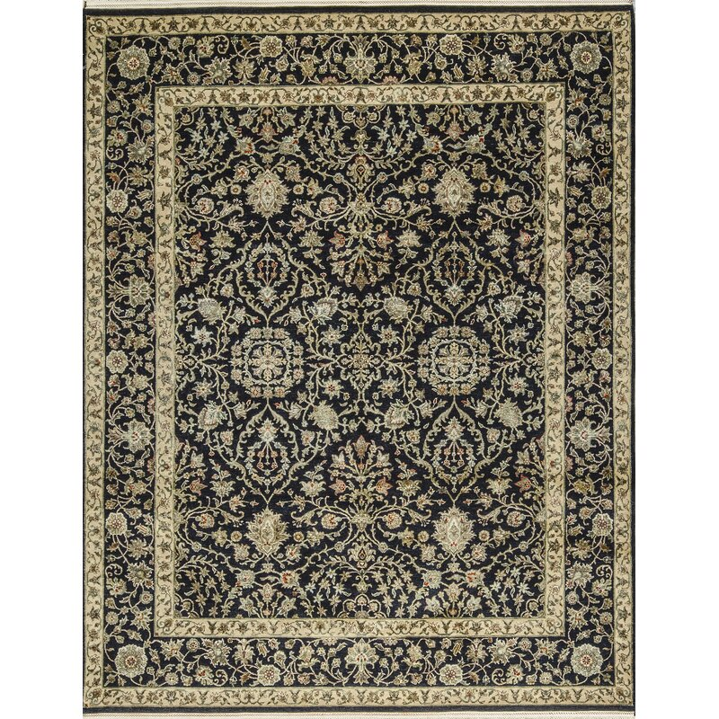 Bokara Rug Co Inc One Of A Kind Handwoven Wool Black Beige Indoor Area Rug Wayfair