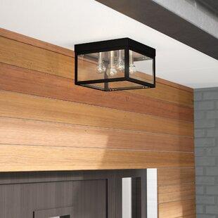 Mercury Row Demery 4-Light LED Metal Outdoor Flush Mount