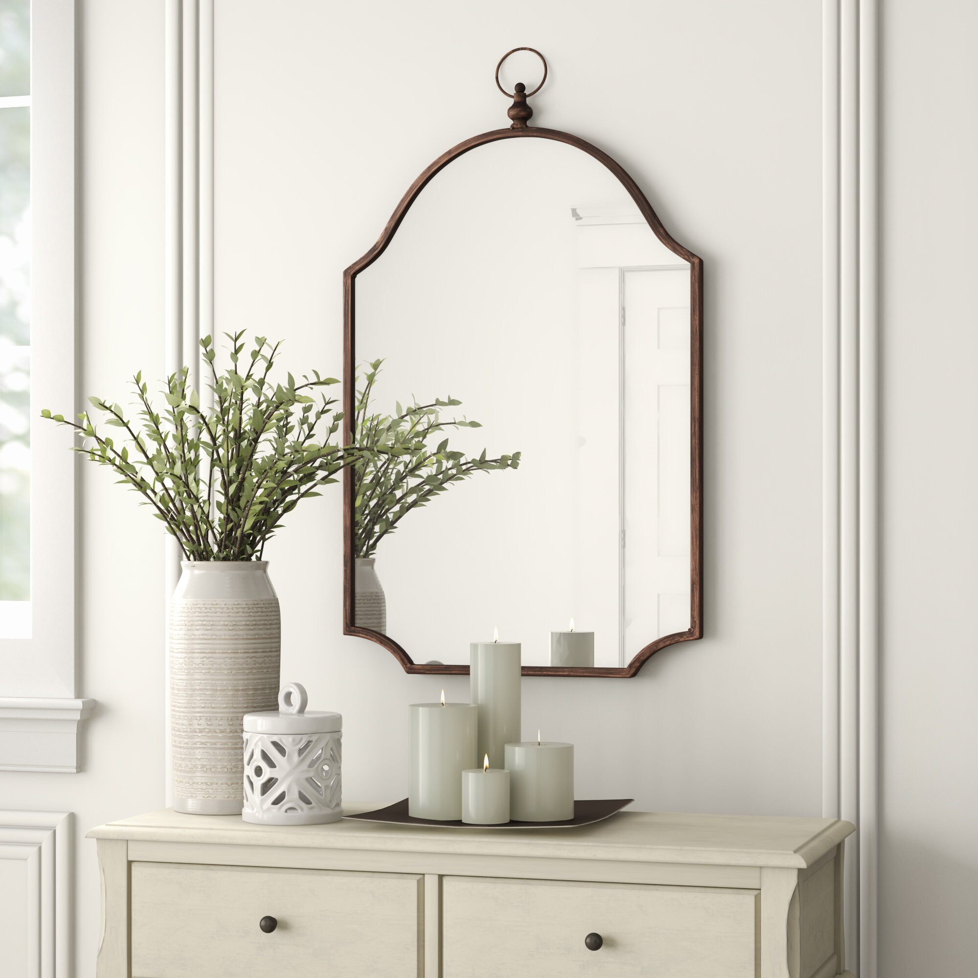 Brambly Cottage Iredell Accent Mirror Reviews Wayfair Co Uk