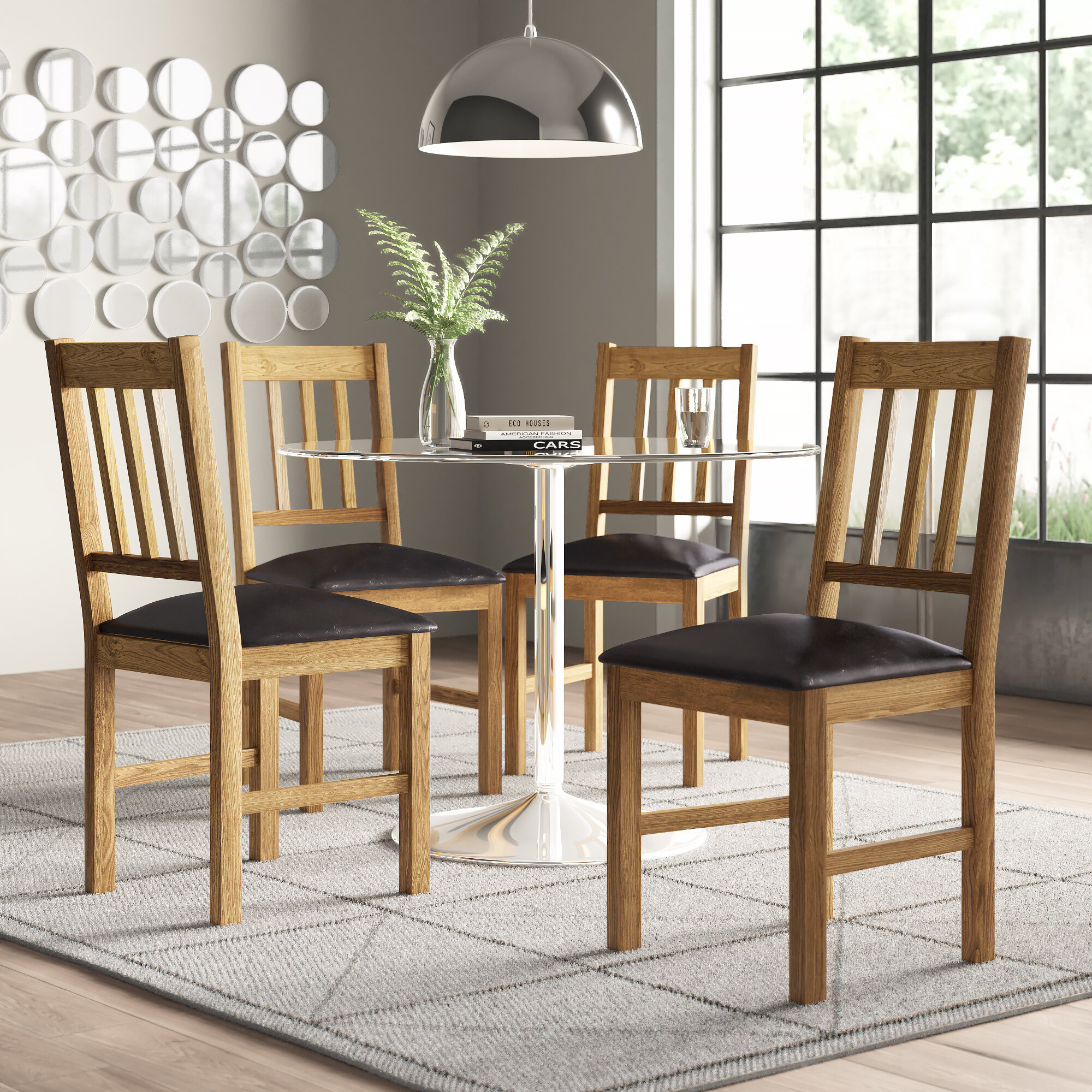 Union Rustic Alessandra Solid Wood Dining Chair Reviews Wayfair Co Uk