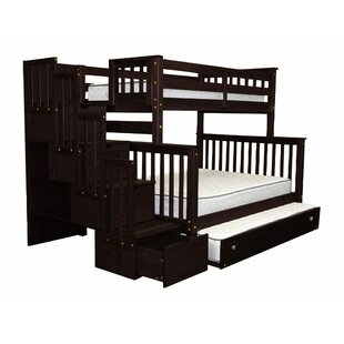 Tena Twin over Full Stairway Bunk Bed with Trundle by Harriet Bee