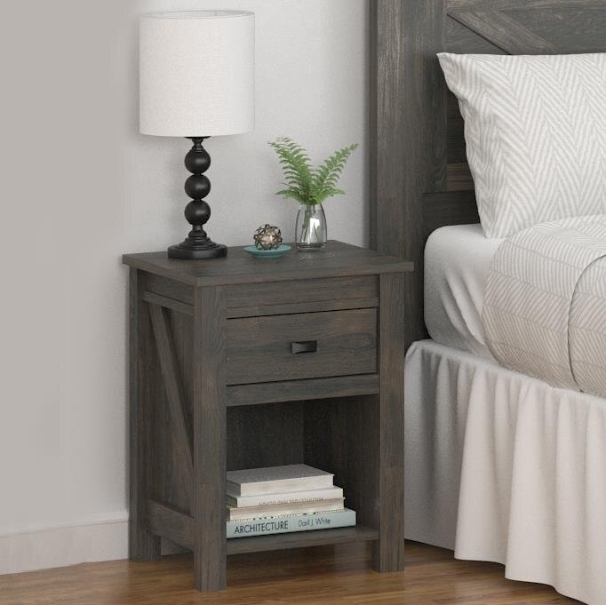 gracie oaks cleveland 1 drawer nightstand & reviews   wayfair Nightstand Design