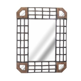 World Menagerie Fanning Metal Grid Accent Mirror