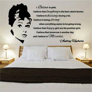 Audrey Hepburn Quote Design 1 Wall Sticker