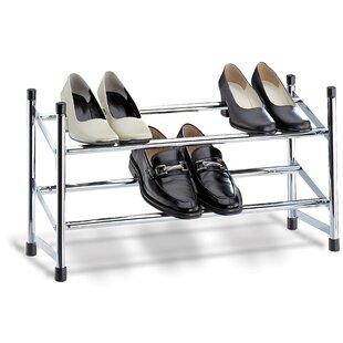 Organize It All Expandable 2-Tier Shoe Rack