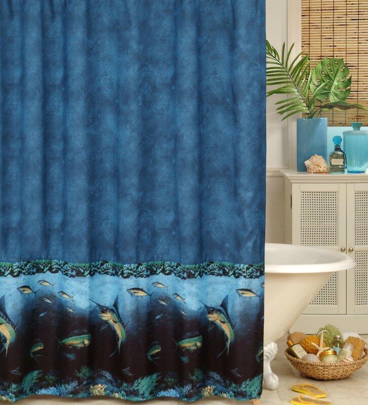 coral and blue shower curtain. Coral Reef Shower Curtain Karin Maki  Reviews Wayfair