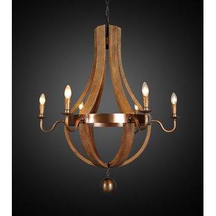 Gracie Oaks Aleisha 6-Light Empire Chandelier