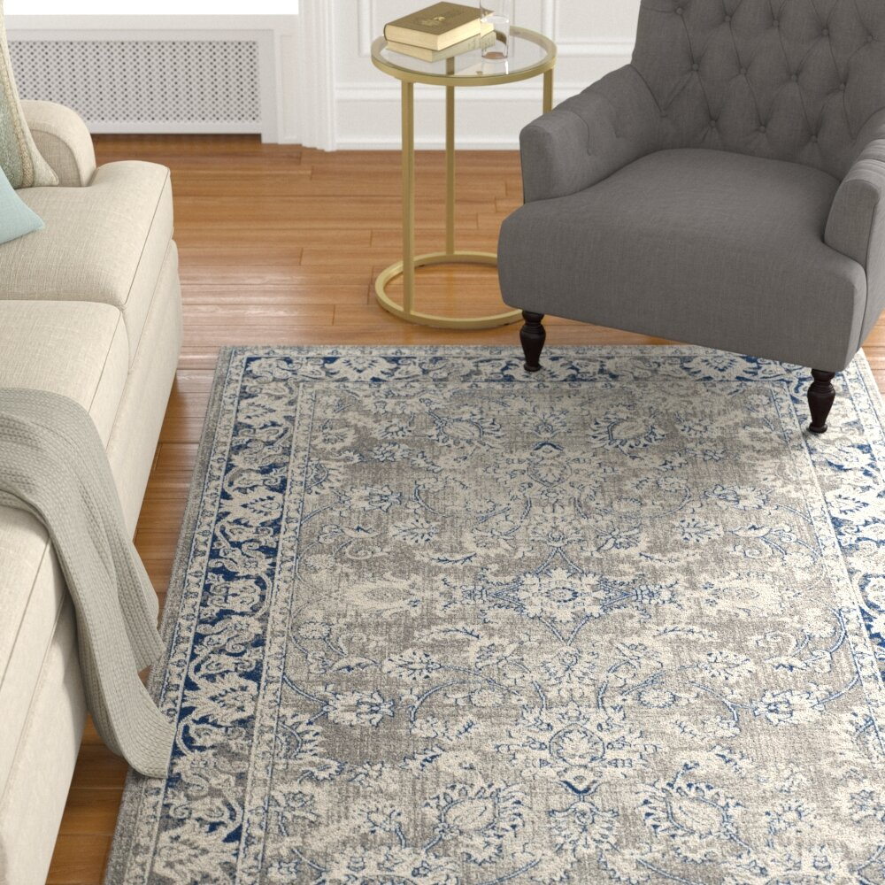 Darby Home Co Harwood Gray Blue Area Rug Reviews Wayfair