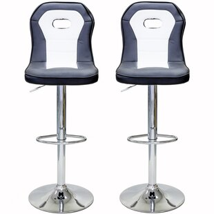 Castelvecchio Series Racecar Style Adjustable Height Swivel Bar Stool (Set of 2) by Orren Ellis