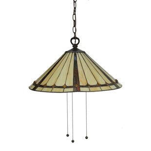 Meyda Tiffany Belvidere 3-Light Cone Pendant