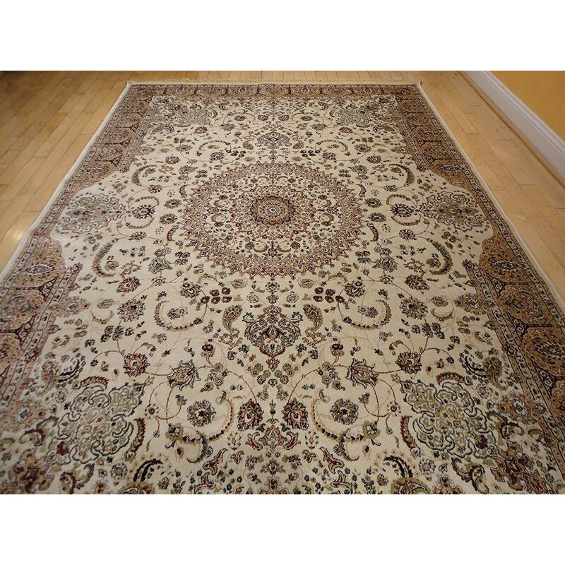 Astoria Grand Shanelle Living Room Hand Knotted Silk Ivory Rug Reviews Wayfair