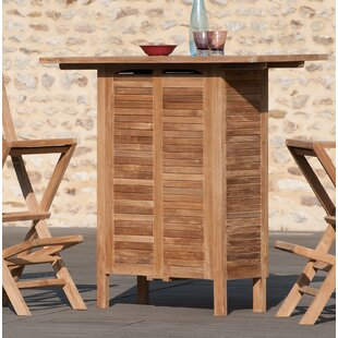 Hirsh Teak Bar Table By Sol 72 Outdoor