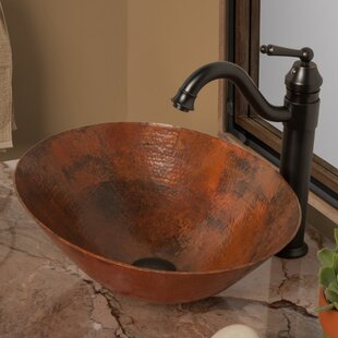 Novatto Bilboa Metal Oval Vessel Bathroom Sink with Faucet